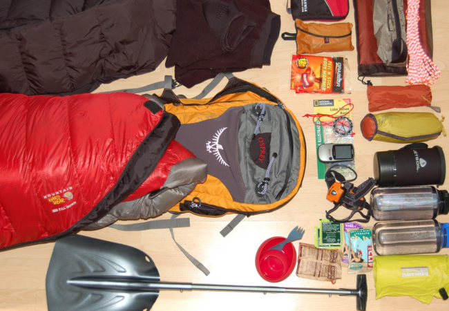 """""""Gear for lightweight snow camping"""" flickr photo by Ross goo.gl/UzynGH shared under a Creative Commons (BY) license"""