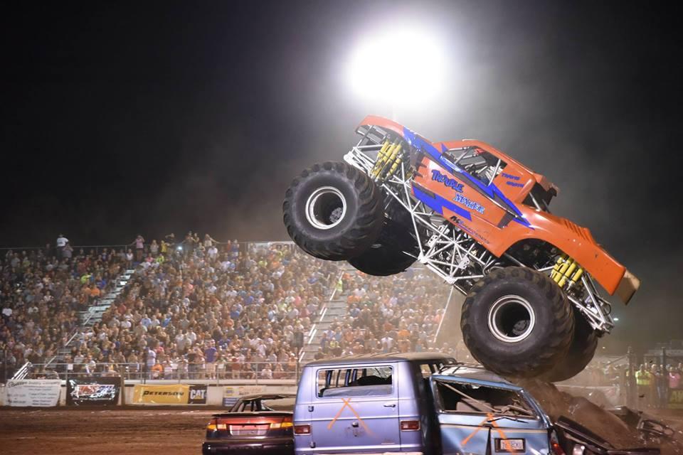 monster trucks in action